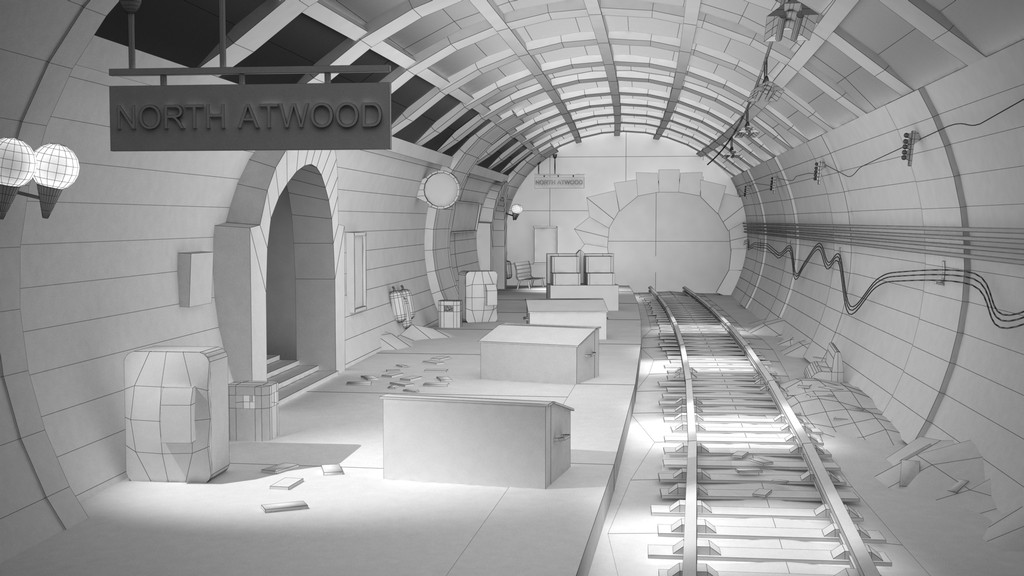 Uncharted 3 London Underground - Estela Villa Portfolio 3D